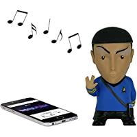 Star Trek: Mr. Spock 6 Tall Vinyl Talking Bluetooth Speaker with Quotes, Sound Effects and Microphone