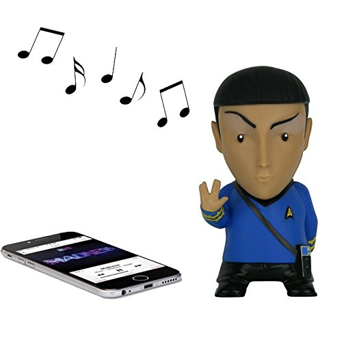 Khan Star Trek Into Darkness Costume (Star Trek Bluetooth Speaker. Authentic Spock Star Trek Merchandise with Sound Effects and Microphone! Complete your Star Trek Accessories with the Coolest Mr. Spock Figure!)