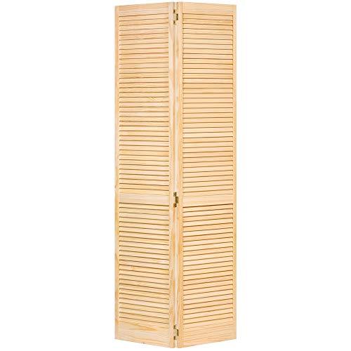 Closet Door, Bi-fold, Kimberly Bay Traditional Louver-Louver Clear (80x24) (Wood Bifold Doors)