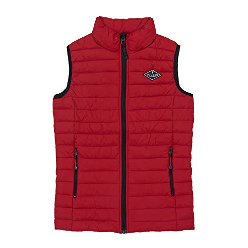Joules Crofton Skinny Quilted Body Warmer Age 2 Red by Joules