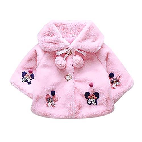 Leegor Baby Toddler Spring Winter Capelet, Infant Girls Spring Winter Coat Cloak Jacket Thick Warm Clothes Capes - Baby Mobile Football