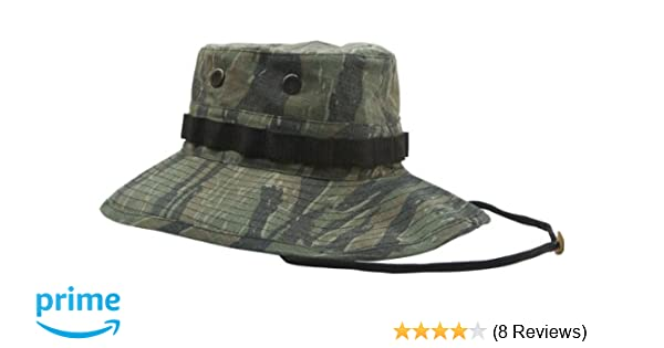 Amazon.com  Tiger Stripe Camouflage Vietnam Vintage Boonie Hat 5915 Size 7  1 2  Military Apparel Accessories  Clothing 7ae0f6ef76e