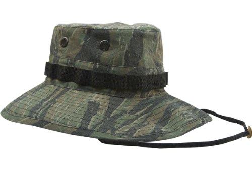 Tiger Stripe Camouflage Vietnam Vintage Boonie Hat 5915 Size 7 1/2