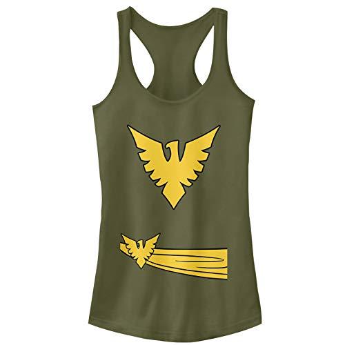 Phoenix Suns Halloween Costume (Marvel Juniors' Halloween X- Men Phoenix Costume Military Green Racerback Tank)