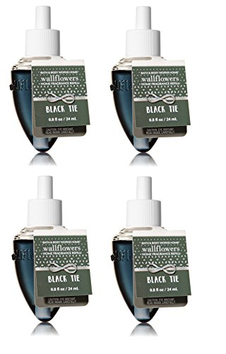 Bath & Body Works Black Tie Wallflower Refill Home Fragrance Bulb - Lot of 4