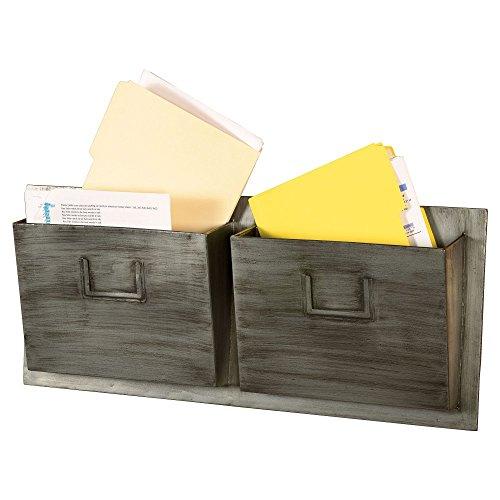 UPC 753793937076, Linon Industrial Metal 2-Slot Mailbox, Horizontal