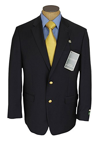 Ralph Lauren Mens 2 Button Navy Blue Wool Blazer Sport Coat Jacket - Size 44S by RALPH LAUREN