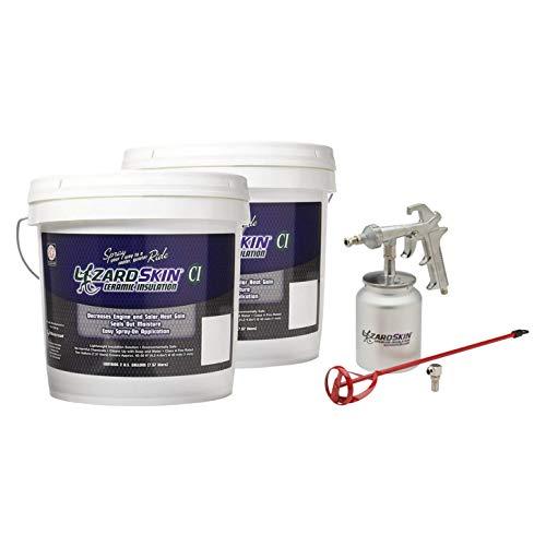 LizardSkin LSCI-4GAL Kit Ceramic Insulation with Spray Gun - 4 Gallon