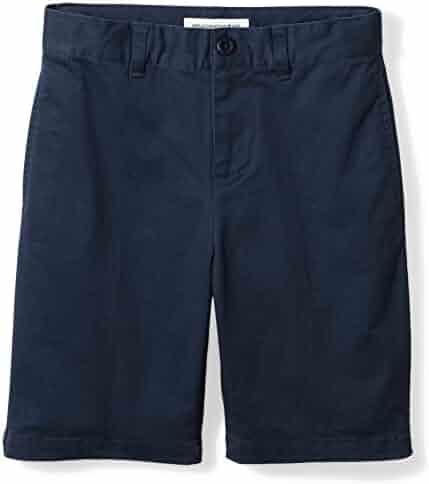 Amazon Essentials Boys' Flat Front Uniform Chino Short