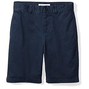 Amazon Essentials Boys' Woven Flat-Front Khaki Shorts