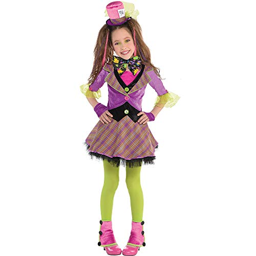 Girls Mad Hatter Costume - Medium (8-10) -