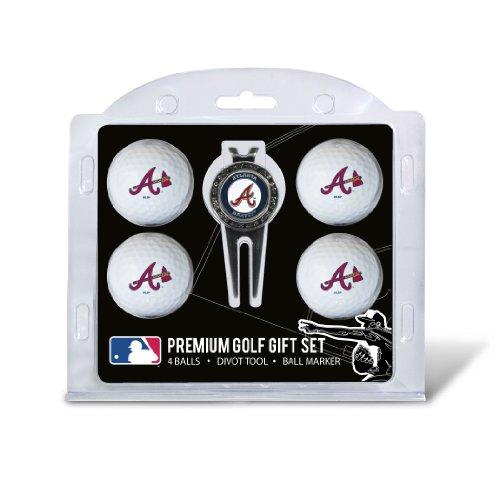 MLB Atlanta Braves 4 Golf Ball And Divot Tool Set