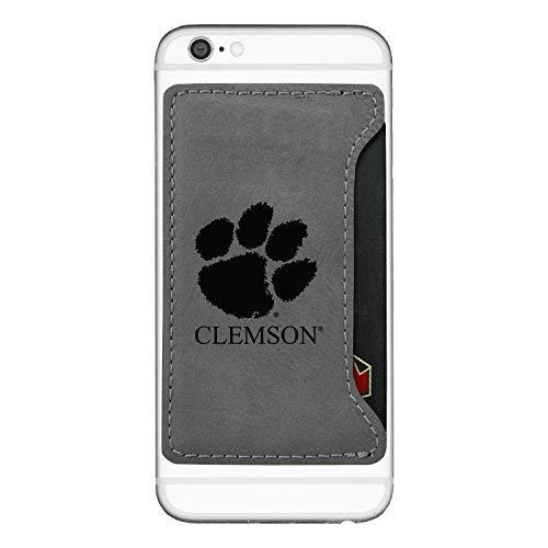 - Clemson University-Cell Phone Card Holder-Grey