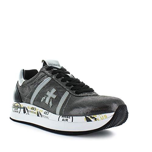 Pelle Conny3342 Argento Donna Sneakers Premiata 4ctwqaFF