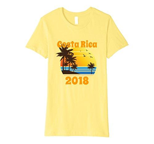 Womens Matching Family Vacation Costa Rica 2018 Vintage T-Shirt Large Lemon