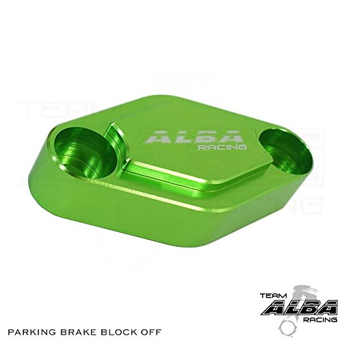 - Billet Kawasaki ATV Parking Block Off Plate Green (6 color options)
