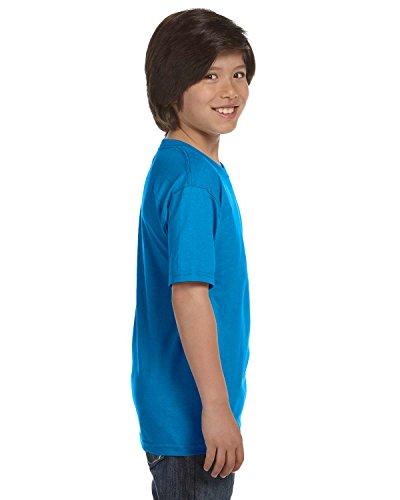 Gildan Dryblend Youth T-Shirt, Sapphire, Medium