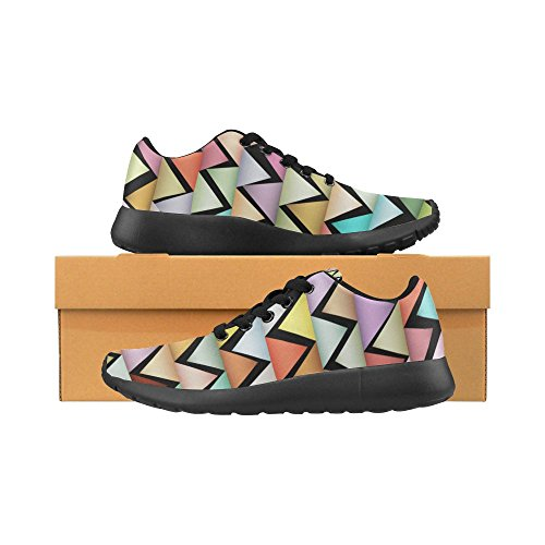 Athletic InterestPrint Women's Running Lightweight US Sneakers Zigzags 15 Geometric Pattern Shoes Size Casual 6 8Bq8UTr