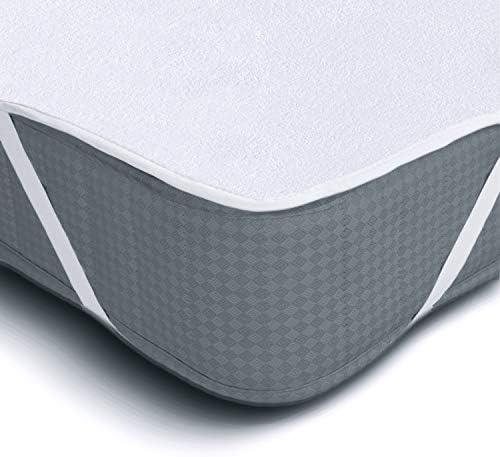 Melunda Protector de Colchón Impermeable 90 x 200 cm | Capa ...