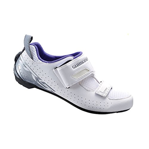 Shimano Sh-TR5 Cycling Shoe - Women's White, 37.0 (Womens Triathlon Bike)