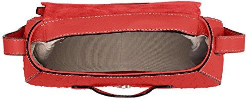 Chicca Borse 8616, Borsa a Spalla Donna, 25x20x9 cm (W x H x L) Rosso (Red)