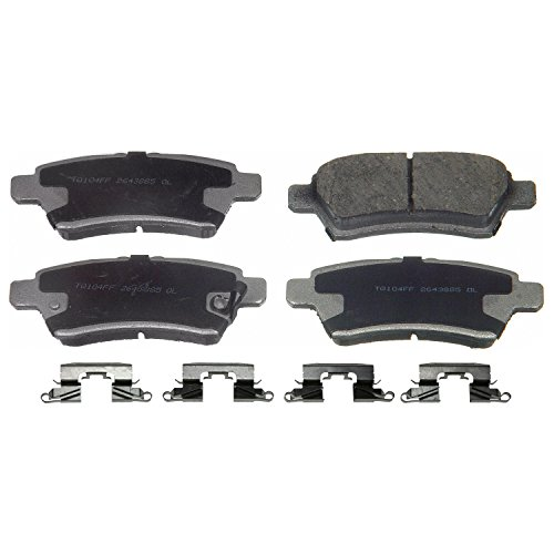 Wagner ThermoQuiet PD1101 Ceramic Disc Pad Set With Installation Hardware, Rear