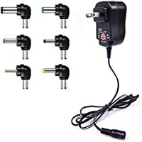 IAITE Universal AC/DC Adapter 12W Switching Power Supply with Six Adaptor Plugs for 3V to 12V Electronics