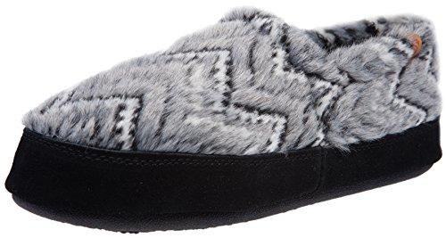 ACORN Women's Acorn Moc Slip-On Loafer (8-9 B(M) US, Grey Zig-Zag) by Acorn