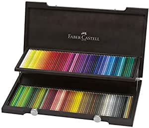 Faber-Castell Polychromos 120 Colour Pencils in Wooden Case (18-110013)
