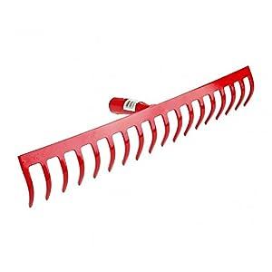 Polar 2236 Stahl-Rechen Rot mit 18 Zinken Stahlstärke 5 mm