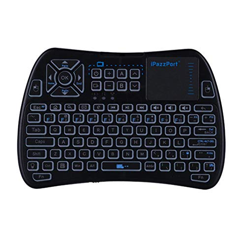 Vipeco iPazzPort 2.4G IR Wireless Keyboard Remote Control with Touch Pad Backlit from Vipeco
