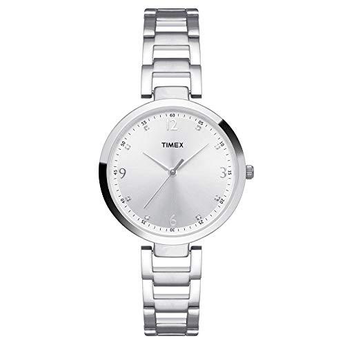 Timex Fashion Analog Silver Dial Women #39;s Watch   TW000X202