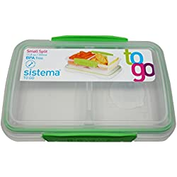 Sistema BPA-Free Small Split Reusable Food Storage Container, 11.8 oz, Green