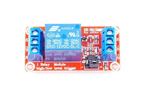 - KNACRO 12V 1-way relay module With optocoupler 1-way relay Relay expansion board High and low trigger With LED warning lamp (DC 12V)