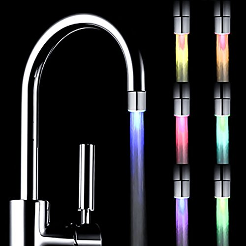 LEDMO LED Light Water, 7 Colors Changing, Glow Stream Faucet Tap, Suitalbe For bathroom and kitchen high-quality