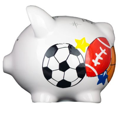Sports Piggy Bank Personalized (Mini Basketball Bank)