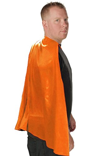 Superhero Adult Costume Cape (Orange) (Heroes And Villains Clothing)