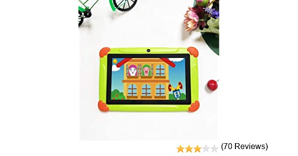 Kids Tablet Android 8.1, Pantalla de 7 Pulgadas, Tablet PC con Quad Core, 2 GB RAM 32 GB ROM, Tableta 1280 * 800 HD con Funda de Silicona, cámara Dual, Bluetooth, Wi-Fi y GPS: Amazon.es: Informática