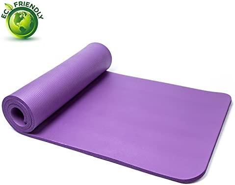 QUBABOBO Esterilla de Yoga 10 mm de Espesor Antideslizante y ...