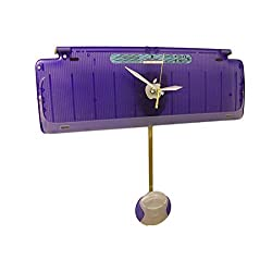 Grape Apple iMac Pendulum Clock from Recycled Keyboard. Cool Designer Clock.