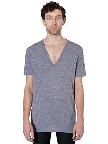 american-apparel-unisex-tri-blend-short-sleeve-deep-v-neck-athletic-grey-x-small