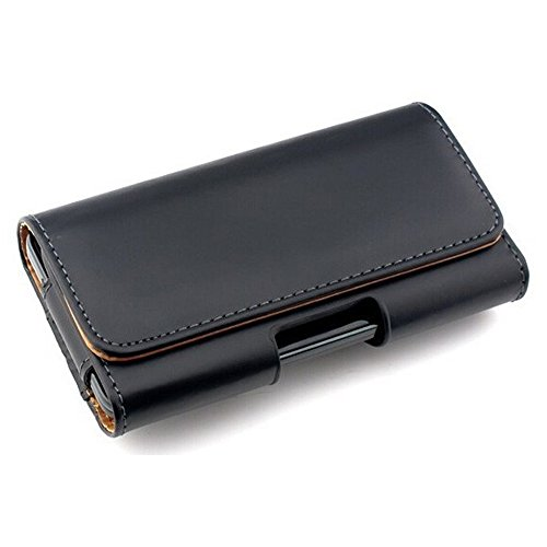Price comparison product image Fancasee Universal Belt Clip Case Waist Leather Cover Bag Pouch with Clip Holder for iPhone 6 Plus 6S Plus 7 Plus Galaxy S5 S6 S7 Edge Pixel XL Nexus 5 5X [5.0 - 5.5 Inch] Cell Phone and More - Black