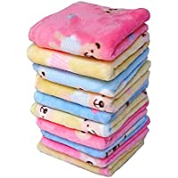 B.H Women's Soft face Cotton Towel Handkerchief with Cute Cartoon Prints (Multicolour) - Pack of 6