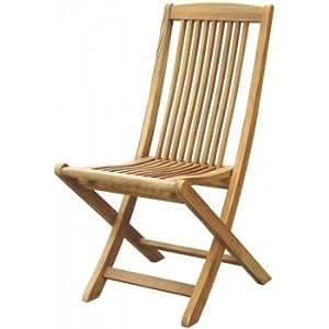 Arley grado A teca al aire libre jardín silla plegable–asiento plegable de madera para exteriores