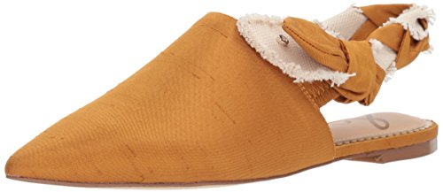 Sam Edelman Women's Rivers Mule, Dark Golden Yellow/Natural, 8 Medium US - Golden Yellow Natural
