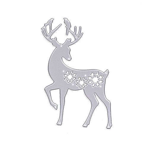 Reindeer Die - Deer Cutting Dies Stencils DIY Scrapbook Album Embossing Paper Card Craft Decor By HittecH