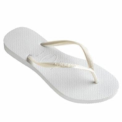 Havaianas Slim White Flip Flops - UK 6 7 - BR 39 40 - EU 41 42  Amazon.co.uk   Shoes   Bags ef846a9a2
