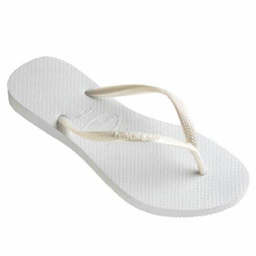 Havaianas Tongs Slim Blanc UK 6/7–BR-EU 39/40/41/42