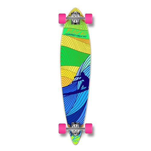 punked blue surf longboard complete
