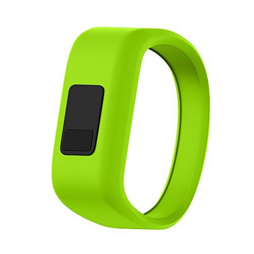 ANCOOL Compatible with Garmin Vivofit JR Bands, Soft Kids Wristbands Replacement for Vivofit JR/Vivofit JR2/Vivofit 3 Tracker (Small, Green)